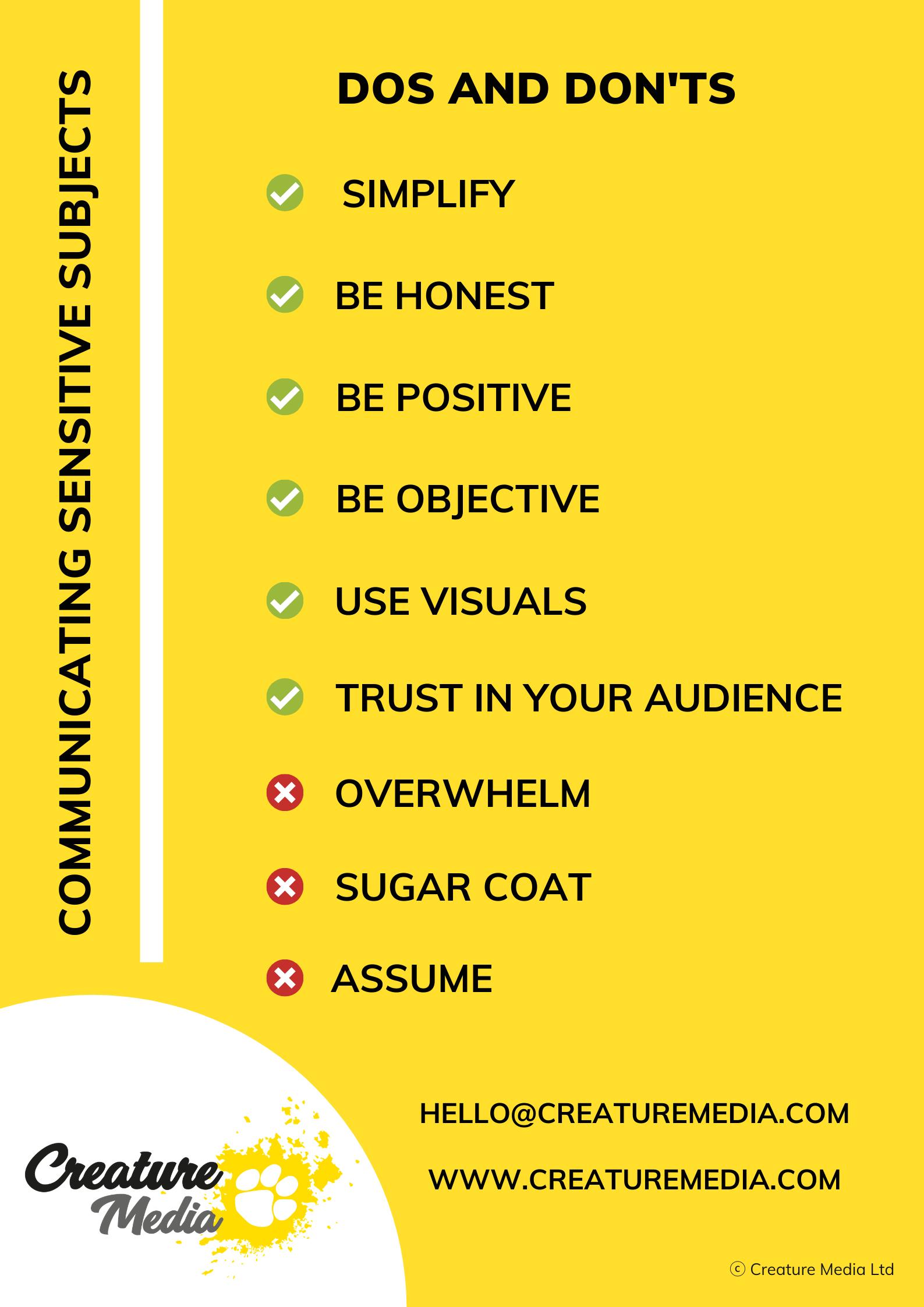 Creature Media webinar: How to Make Sensitive Topics Engaging